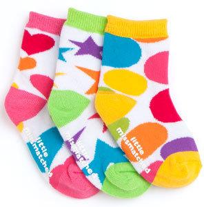 LittleMissMatched Zany Icons WhiteToddler Socks