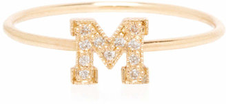 Chicco Zoe 14k Pave Diamond Gold Initial Ring
