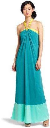 Max & Cleo Women's Lyla Colorblocked Halter Dress