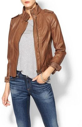 Juicy Couture Hive & Honey Vegan Leather Jacket