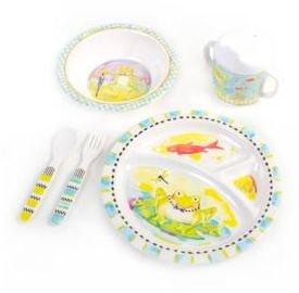 Mackenzie Childs MacKenzie-Childs Frog Toddler Five-Piece Dinnerware Set