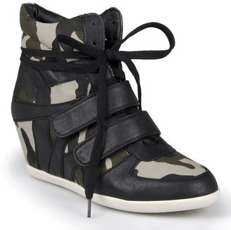 Journee Collection alana camo wedge sneakers - women