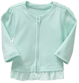 Gap Zip ruffle sweater