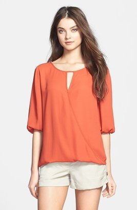 Vince Camuto Two by Faux Wrap Front Blouse