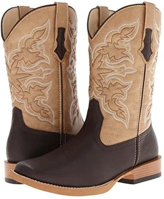 Roper Square Toe Cowboy Boot (Brown) Cowboy Boots