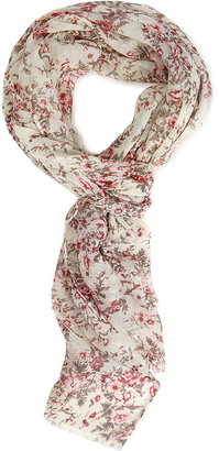 Forever 21 Subtle Floral Woven Scarf
