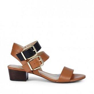 Sole Society Christine stacked mini heel