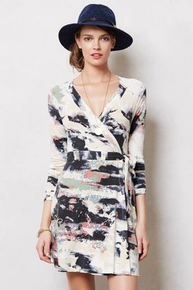 Anthropologie Splashed Wrap Dress