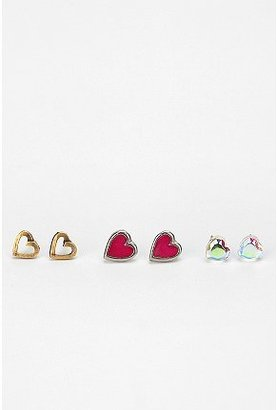 Urban Outfitters Heart Post Earring - Set of 3