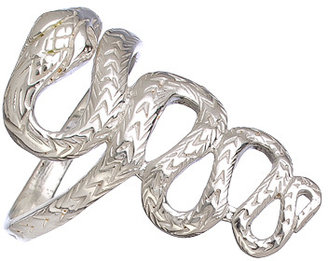 Tang and Song Textured Sterling Silver Snake Ring