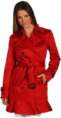 Marc New York Kate Cotton Twill Trench (Cherry) - Apparel