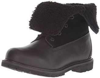 Timberland Women's Teddy Fleece Fold-Down Waterproof Boot $125 thestylecure.com