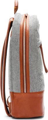 WANT Les Essentiels Black & White Leather Trimmed Kastrup Backpack