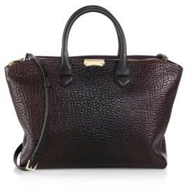 Burberry Dewsbury Pebbled-Leather Satchel