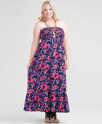 Forever 21 Faith21 Scratched Florals Maxi Dress