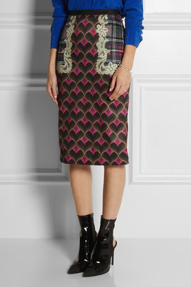 Emma Cook Bargello printed satin skirt