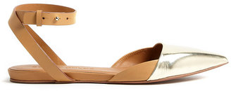 See by Chloe Shoes Hera Flat Sandal With Ankle Strap And Metallic Toe