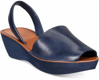 Kenneth Cole Reaction Women Fine Glass Platform Wedge Sandals Women Shoes