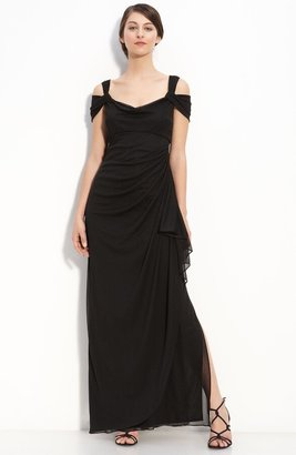 Alex Evenings Double Strap Mesh Gown