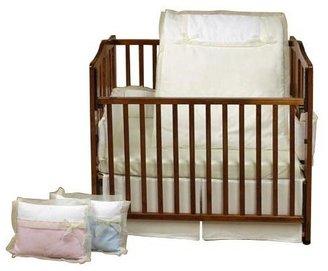 Baby Doll Bedding Classic Bows Crib Bedding Set - Ecru