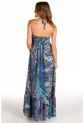 Anne Klein Python Print Maxi Dress