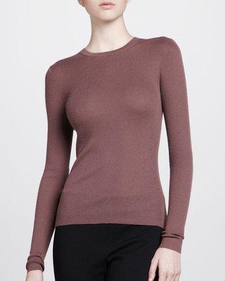 Michael Kors Cashmere Crewneck Sweater, Mauve