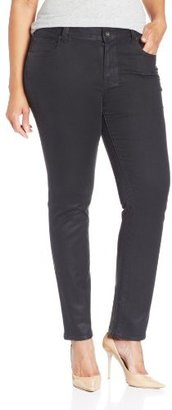 Lucky Brand Women's Plus-Size Ginger Straight Coated Jeans