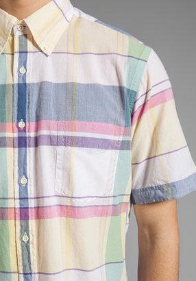 Gant Handloom Madras Short Sleeve EZ OBD