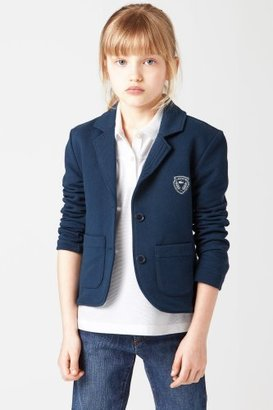 Lacoste Girl's Long Sleeve Blazer With Crest