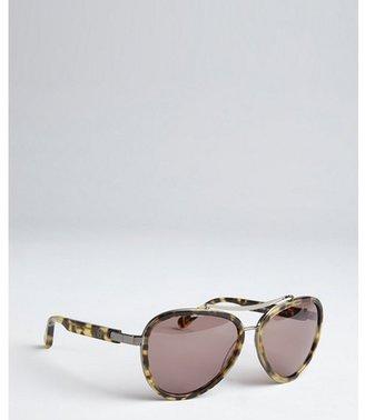 House Of Harlow brown leopard print acrylic 'Lynn' sunglasses