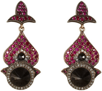 Sevan Biçakci Black & White Diamond & Pink Sapphire Earrings