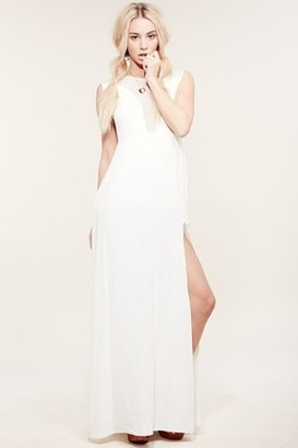 For Love & Lemons Lulu Maxi Dress in White $172 thestylecure.com