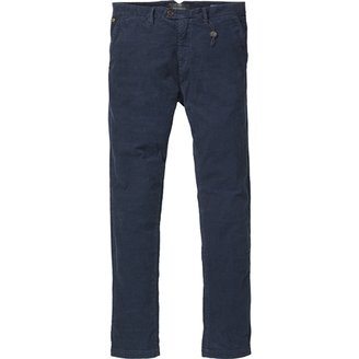 Scotch & Soda Men's Corduroy Chino - Blue