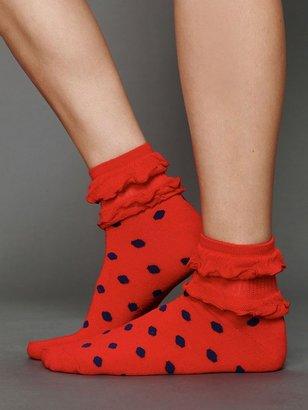 Free People Ruffle Dot Ankle Sock