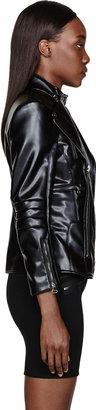 Altuzarra Black Leather Layered Short Spring Overcoat