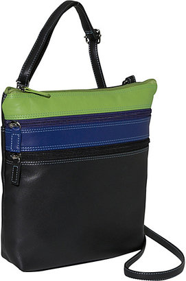 BelArno Medium Multi Color Crossbody in Black Rainbow Combination