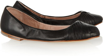 Bloch Simone pleated leather ballet flats