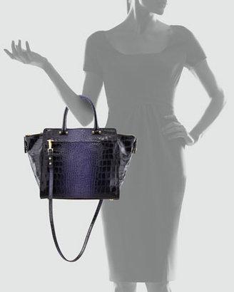 Milly Callan Croc-Embossed Tote Bag, Purple