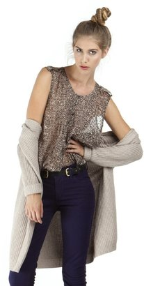 Twelfth St. By Cynthia Vincent By Cynthia Vincent Pleated Front Shirt in Mini Leopard