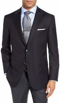 Hickey Freeman Classic B Fit Wool Travel Blazer