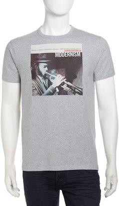 Ben Sherman Graphic Jazz Tee, Oxford Marl
