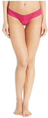 Hanky Panky Petite Signature Lace Low Rise Thong (Black) Women's Underwear