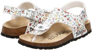 Birkenstock Betula Kids Licensed by Emmy BF (Toddler/Youth) (White Flowers) - Footwear