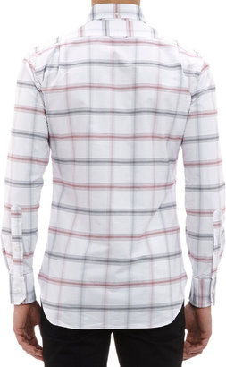 Thom Browne Plaid Oxford Cloth Button-Down Shirt