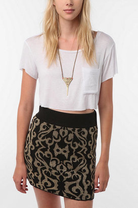 Urban Outfitters Daydreamer LA Solid Cropped Pocket Tee