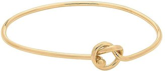 14k Gold Over Silver Love Knot Bangle Bracelet $150 thestylecure.com