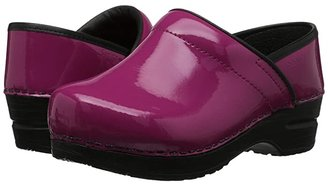 Sanita Professional Patent (Fuchsia Patent) Women's Clog Shoes