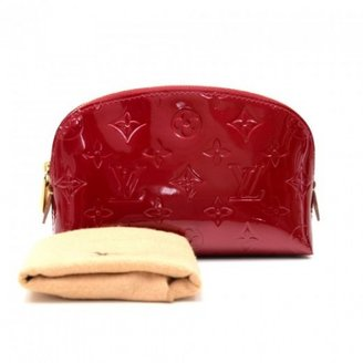 Louis Vuitton excellent (EX Red Vernis Pomme D'amour Leather Cosmetic Pouch