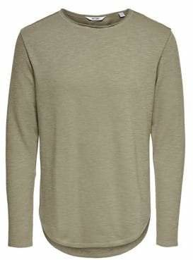 ONLY & SONS Textured Long-Sleeve Tee