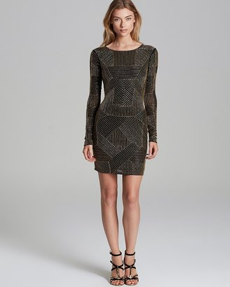 Renzo + Kai Dress - Long Sleeve Beaded Mesh